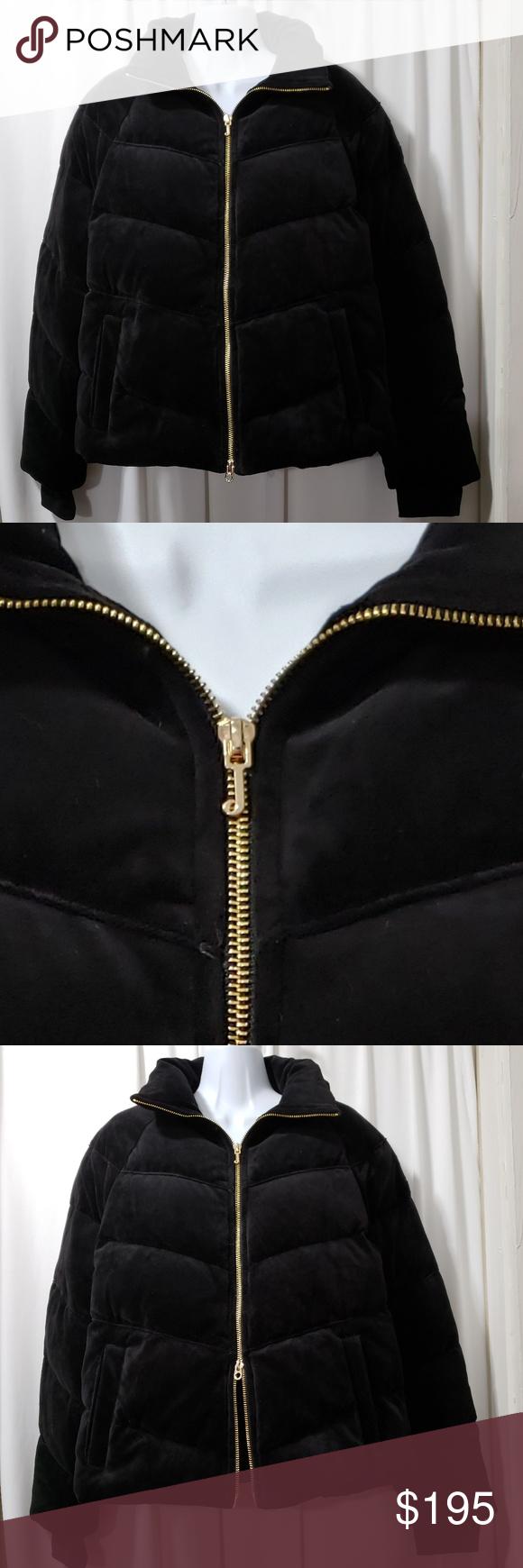 Juicy Couture Black Velvet Puffer Jacket Juicy Couture Jacket Stylish Winter Coats Juicy Couture [ 1740 x 580 Pixel ]
