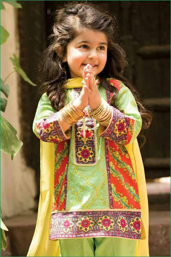 7c70abd56164 Kids Eid collection 2016 | Pakistani kids party wear | Dresses kids ...