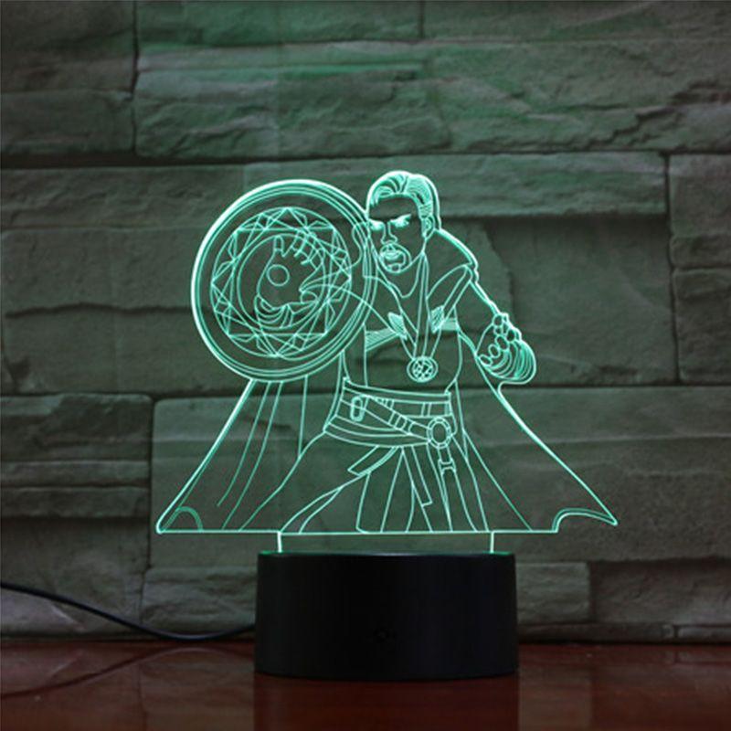 Doctor Strange Lamp Avengers Endgame Party Decoration 3d Table Lamp Projection Night Light Marvel Legends Led Night Light Doctor Strange 3d 3d Night Light