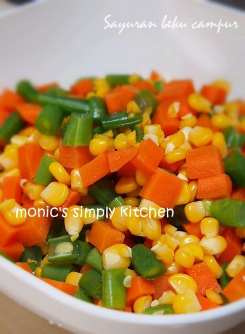 Membuat Sendiri Frozen Mixed Vegetables Homemade Monic S Simply Kitchen Sayuran Beku Resep Makanan Resep Makanan Sehat
