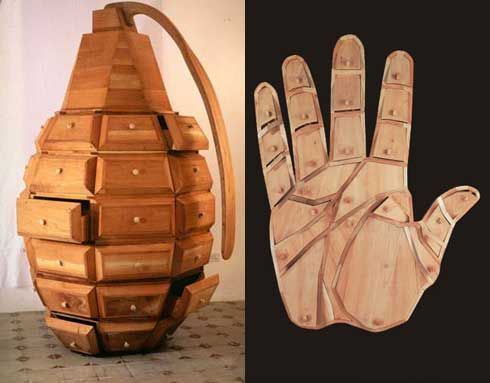 This is a Fun Take on furniture by the work of Los Carpinteros, a group