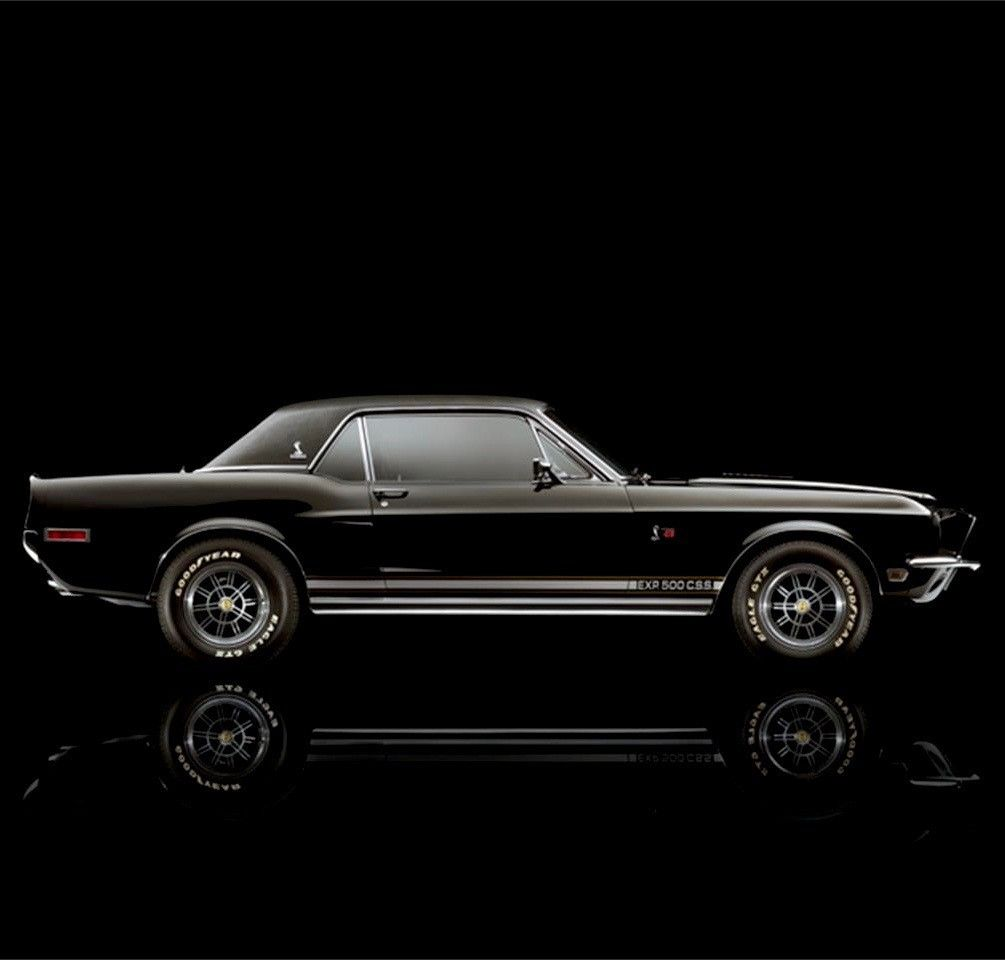 "1968 Ford Mustang/Shelby EXP500 CSS via Tumblr (utwo) ""The Shelby Black Hornet"" …"