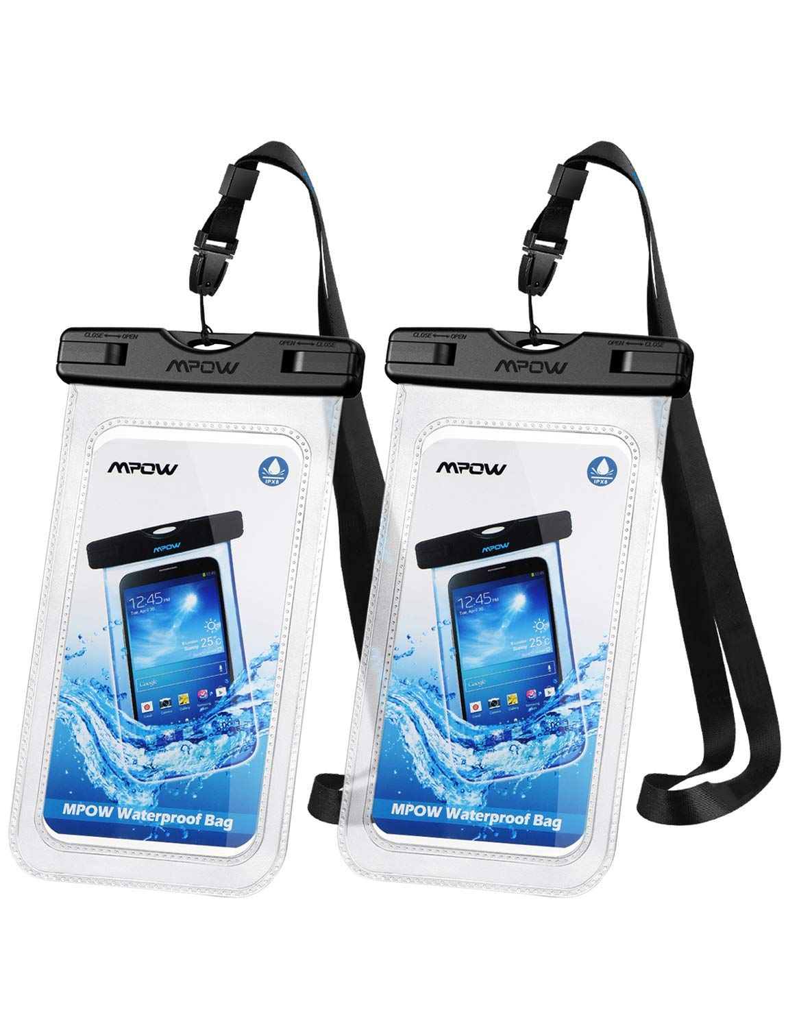 competitive price 9cf2a a7ac5 Amazon.com: Mpow 097 Universal Waterproof Case, IPX8 Waterproof ...