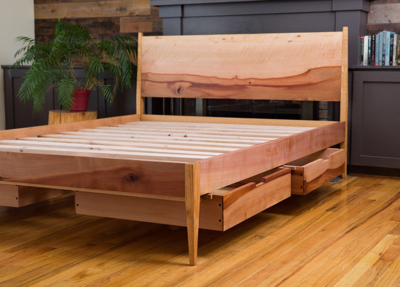 Best Mid Century Modern Storage Bed Modern Shaker Style Bed 400 x 300