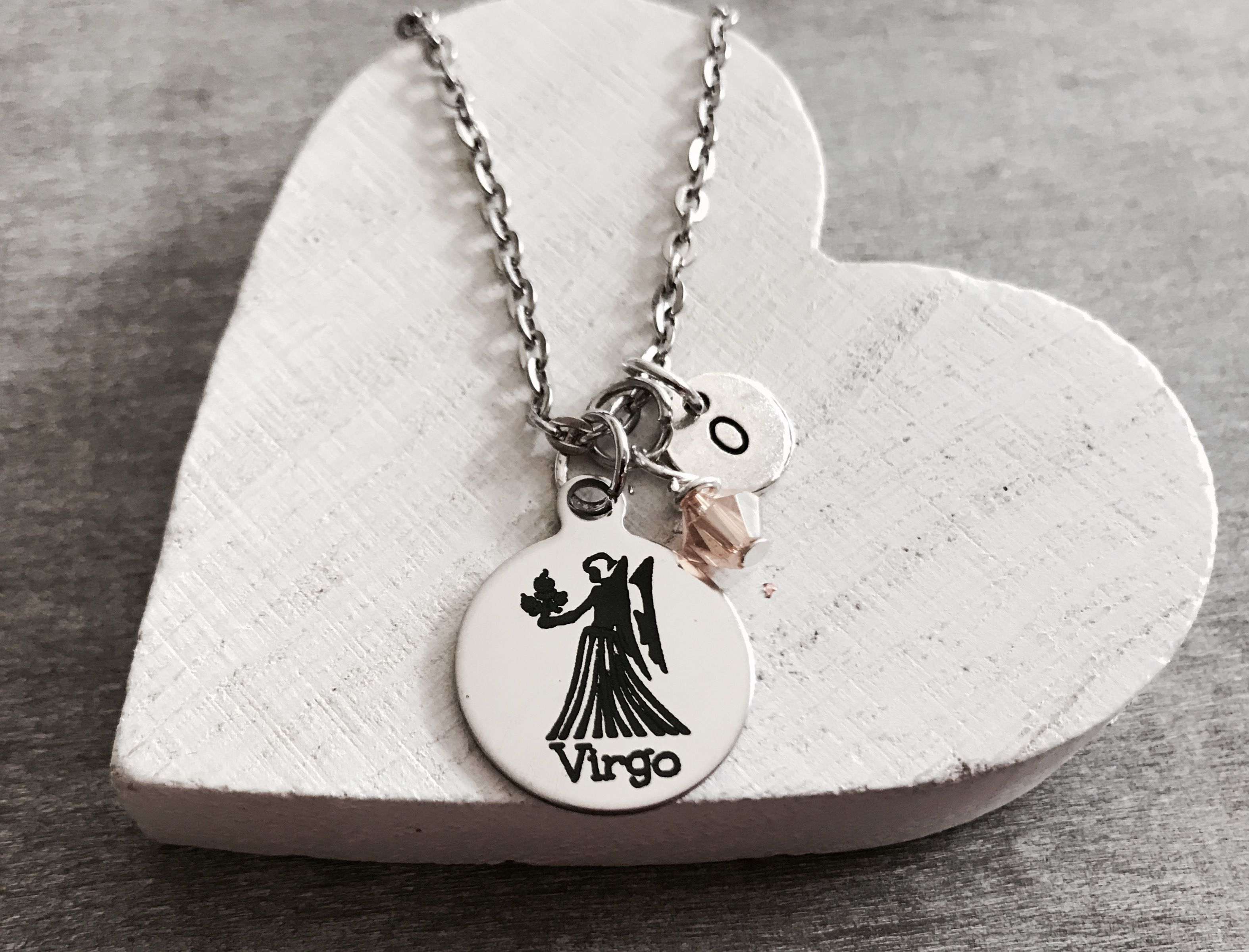 constellation zodiac it white stamped product just hand virgo necklace bead