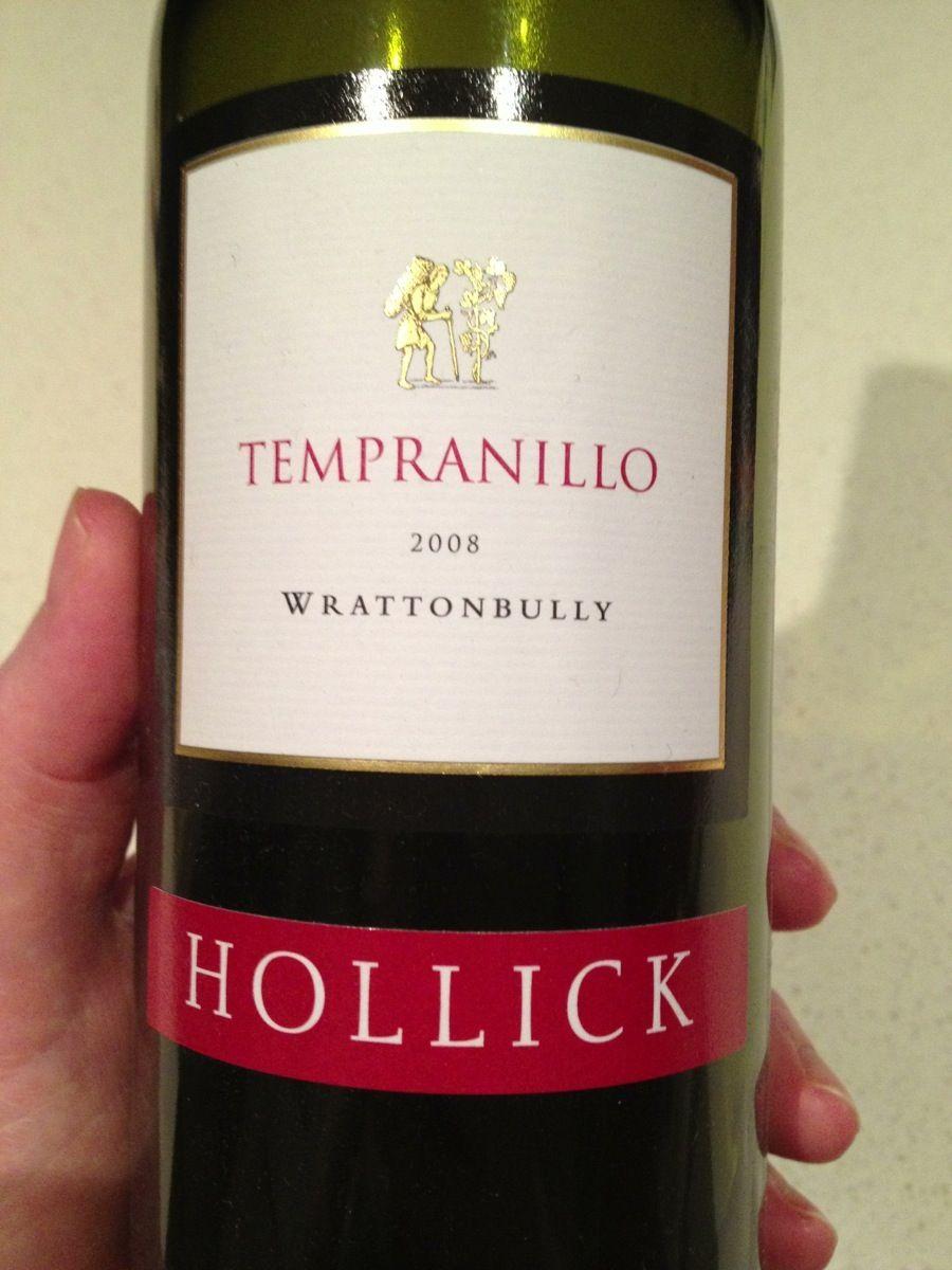 Hollick 2008 Wrattonbully Tempranillo Limestonecoast Tempranillo Wine Bottle Wine Label