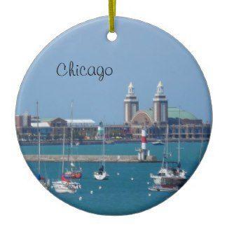 chicago christmas ornament navy pier - Chicago Christmas Ornament