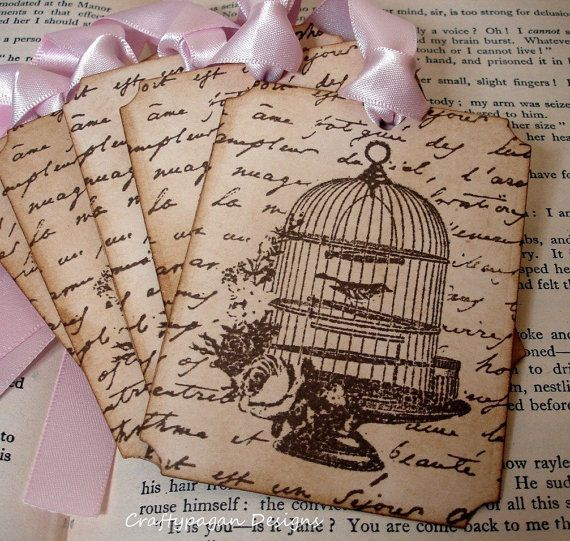 Bird Cage Gift Tags/Place Cards