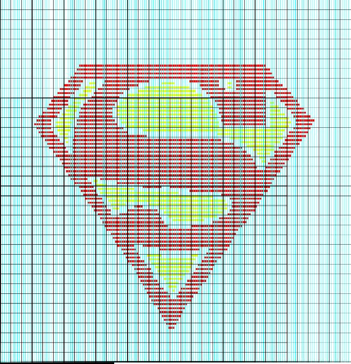 Superman Logo Illusion Knit Chart | Knitting | Pinterest | Superman ...