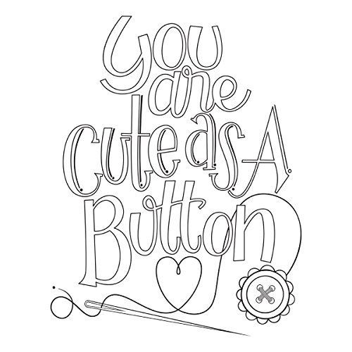 Spellbinders Cute As a Button by Tammy Tutterow Stamp Set