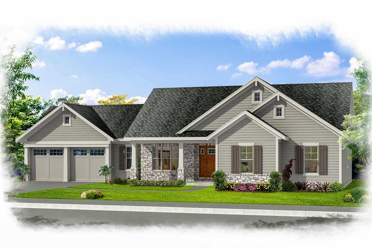 Plan 39223st Warm And Welcoming One Story Country Ranch House Plan Ranch House Plan House Plans Country House Plan