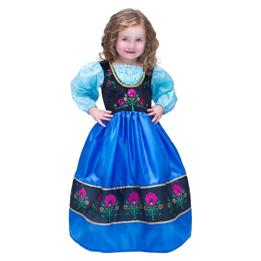 Little Adventures Scandinavian Princess Xl Black Dress Up Costumes Dresses Frozen Dress