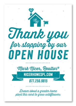 open house cards green realtors plantable realtor resources