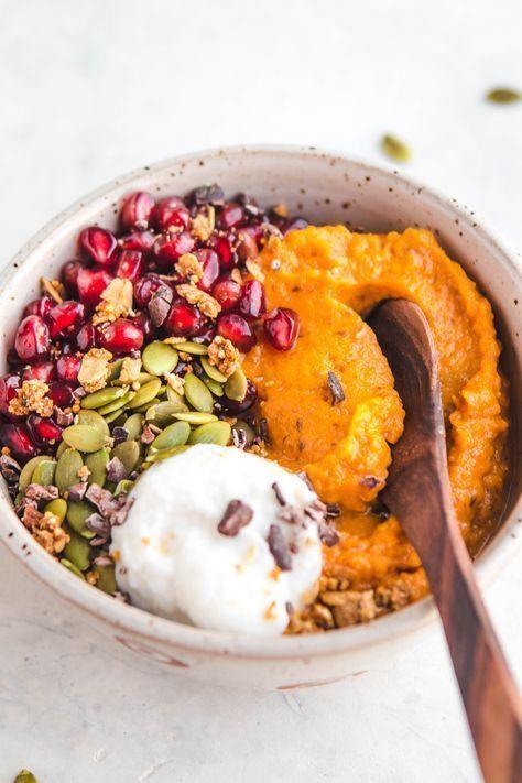 Soft breakfast bowls of sweet potatoes - Vegan and grain-free - From my bowl, #Bowl #Bowls #breakfast #grainfree #HealthyRecipesbreakfast #HealthyRecipesclean #HealthyRecipesdinner #HealthyRecipeseasy #HealthyRecipesforweightloss #HealthyRecipesgroundturkey #HealthyRecipeslunch #HealthyRecipesmealprep #HealthyRecipesonabudget #HealthyRecipesvegetarian #Potatoes #soft #sweet #vegan