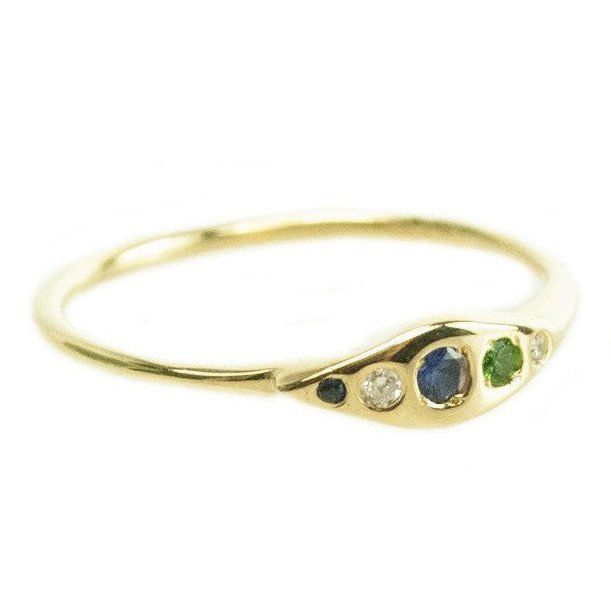 One Of a Kind Five Stone Ring