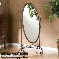 Wrought Iron Mirror Frame Forged Furniture Designs For Bathroom