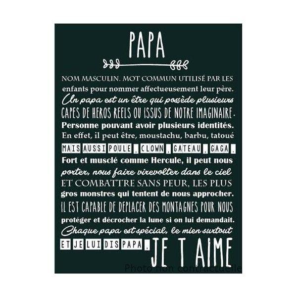 Affiche Spéciale Papa Anniversaire Papa Textes Papa Et