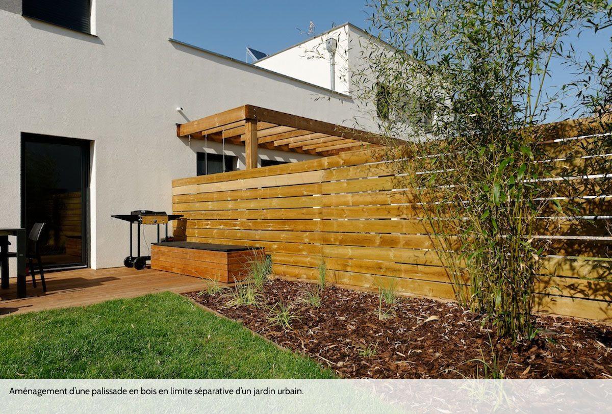 Palissade bois en limite s parative concepteur d - Palissade bois exterieur ...