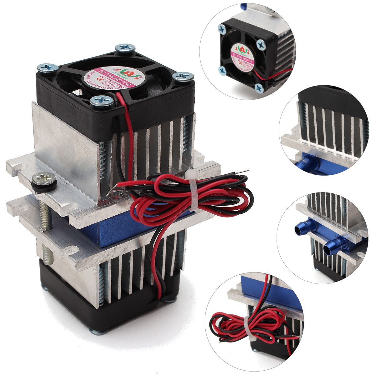 Diy Thermoelectric Peltier Refrigeration Cooling System Fan Kit Thermoelectric Generator Cool Tech Gadgets Cool Stuff