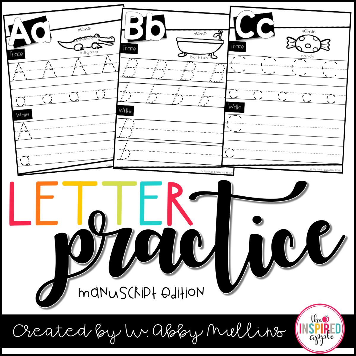 Free Letter Practice Worksheets