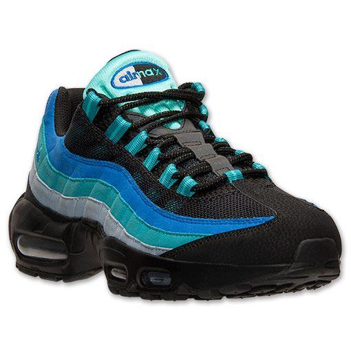 nike air max 95 uomini scarpe da corsa, traguardo nero / iper