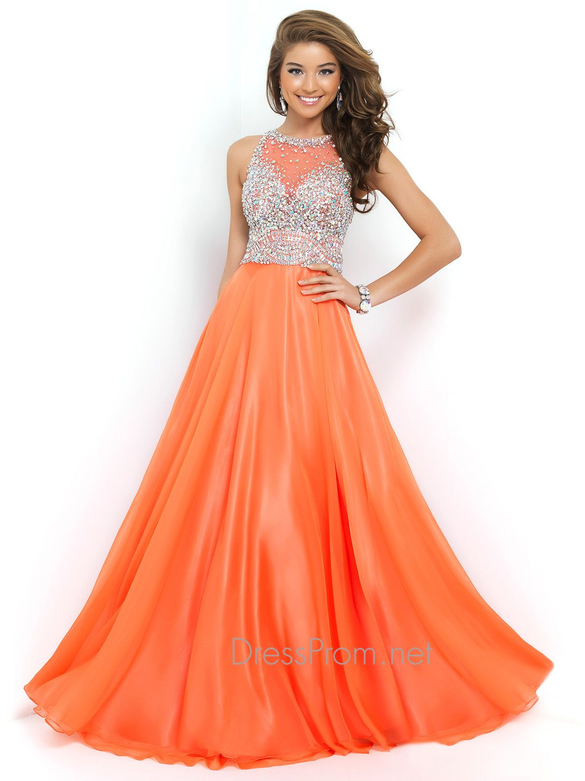 Illusion neckline prom dresses are the new strapless and it\'s easy ...