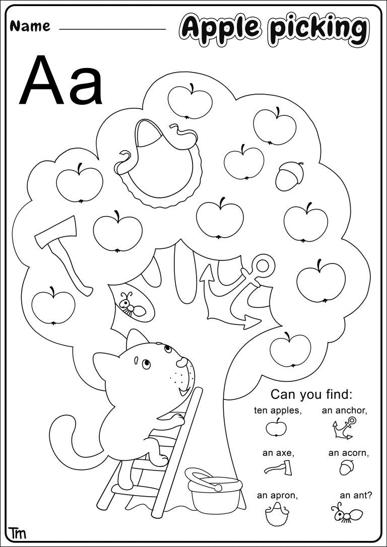 Apples & Where They Come From Preschool Theme Worksheets ...