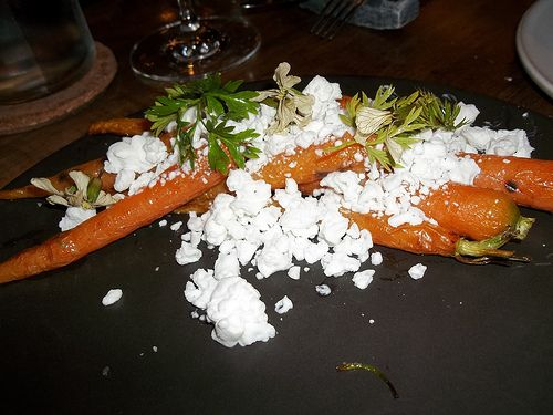 Carrots with Goats Milk Ice