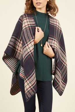 plaid cozy shawl