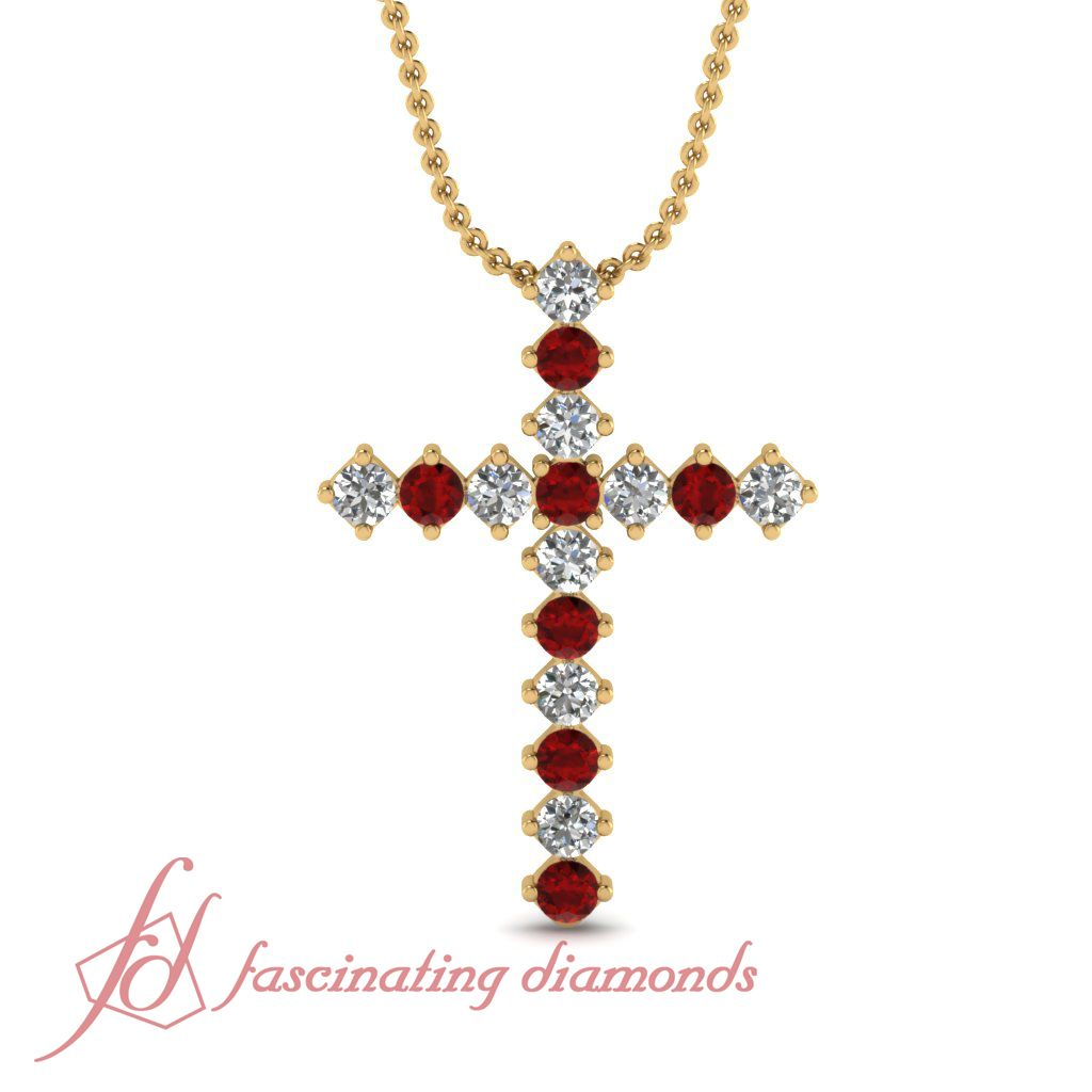 Diamond Cross Religious Pendant 1//6ct 14k White Gold