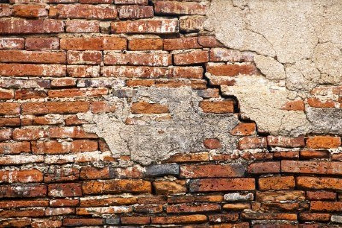 Cracked brick wall mask pinterest bricks walls and for Distressed brick wall mural