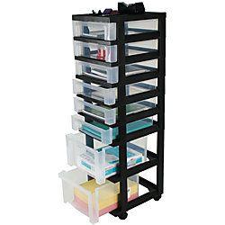 Office Depot Brand Medium Plastic Storage Tower Cart