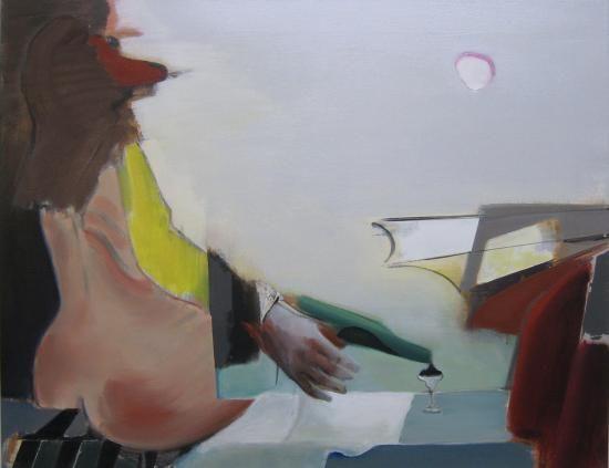 Romance in France - Kunstner, Kunstmaler, Marck Fink, Maleri, Grafisk, Nøgenhed, Mennesker, Surrealisme, : www.artunika.dk / www.artunika.com Romance in France - 90 x 70 cm. Et maleri af Marck Fink...