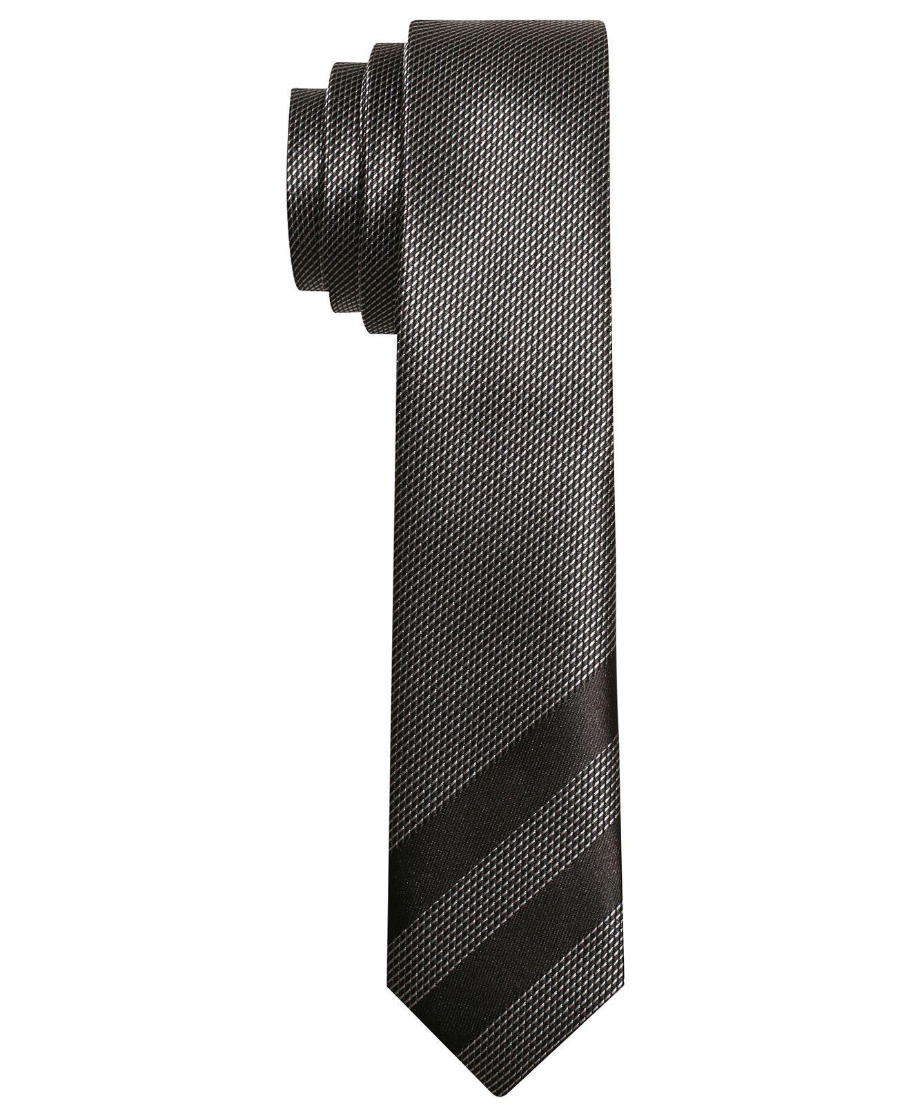 Alfani RED Tie, Viper Pane Skinny Tie - Mens Ties - Macy's ...