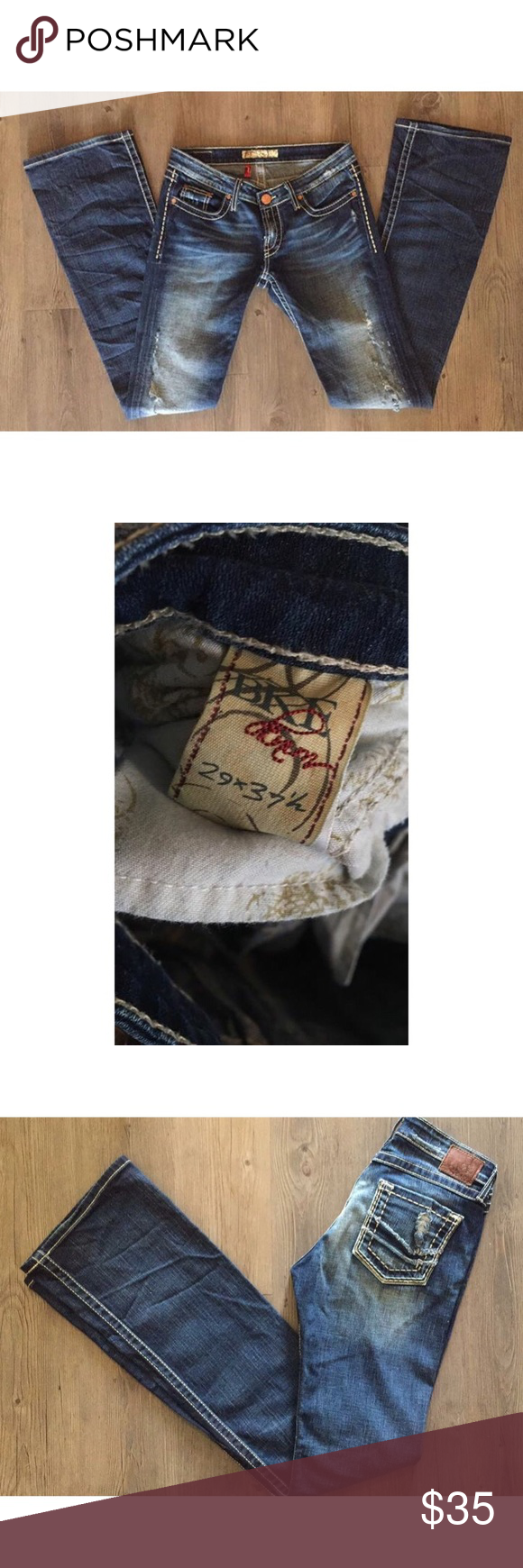 BKE Jeans BKE Jeans size 29 with an inseam of 37 1/2 inches. (Super long!) flare/boot cut. Worn a couple of times. Great condition! BKE Jeans Boot Cut