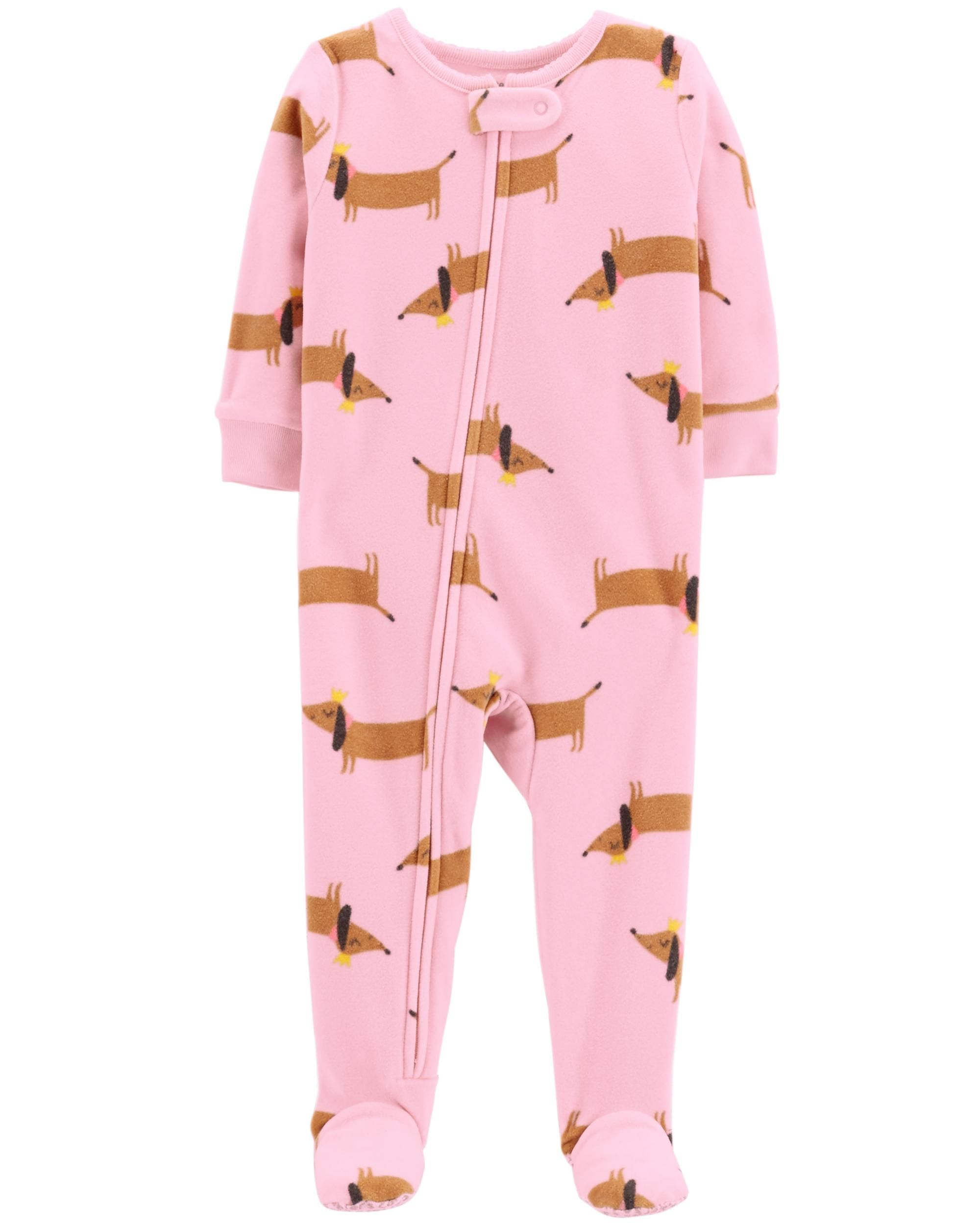 Kitty or Dog Polka Carters Girls Fleece Nightgown