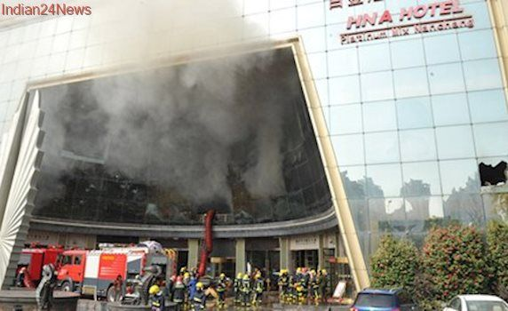 China: Ten killed after major fire breaks out in hotel in Nanchang