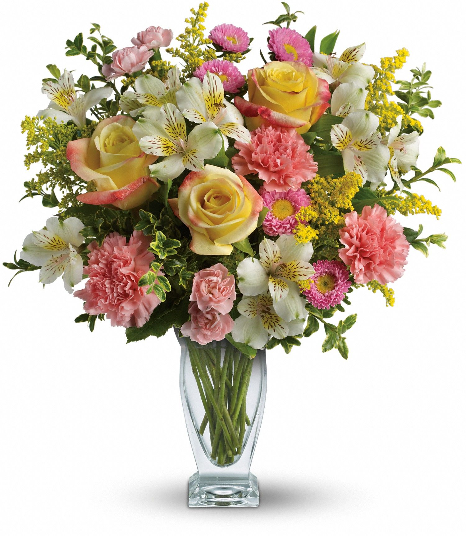 Mother S Day Bouquet A Floral Arrangement With A Mix Of Yellow