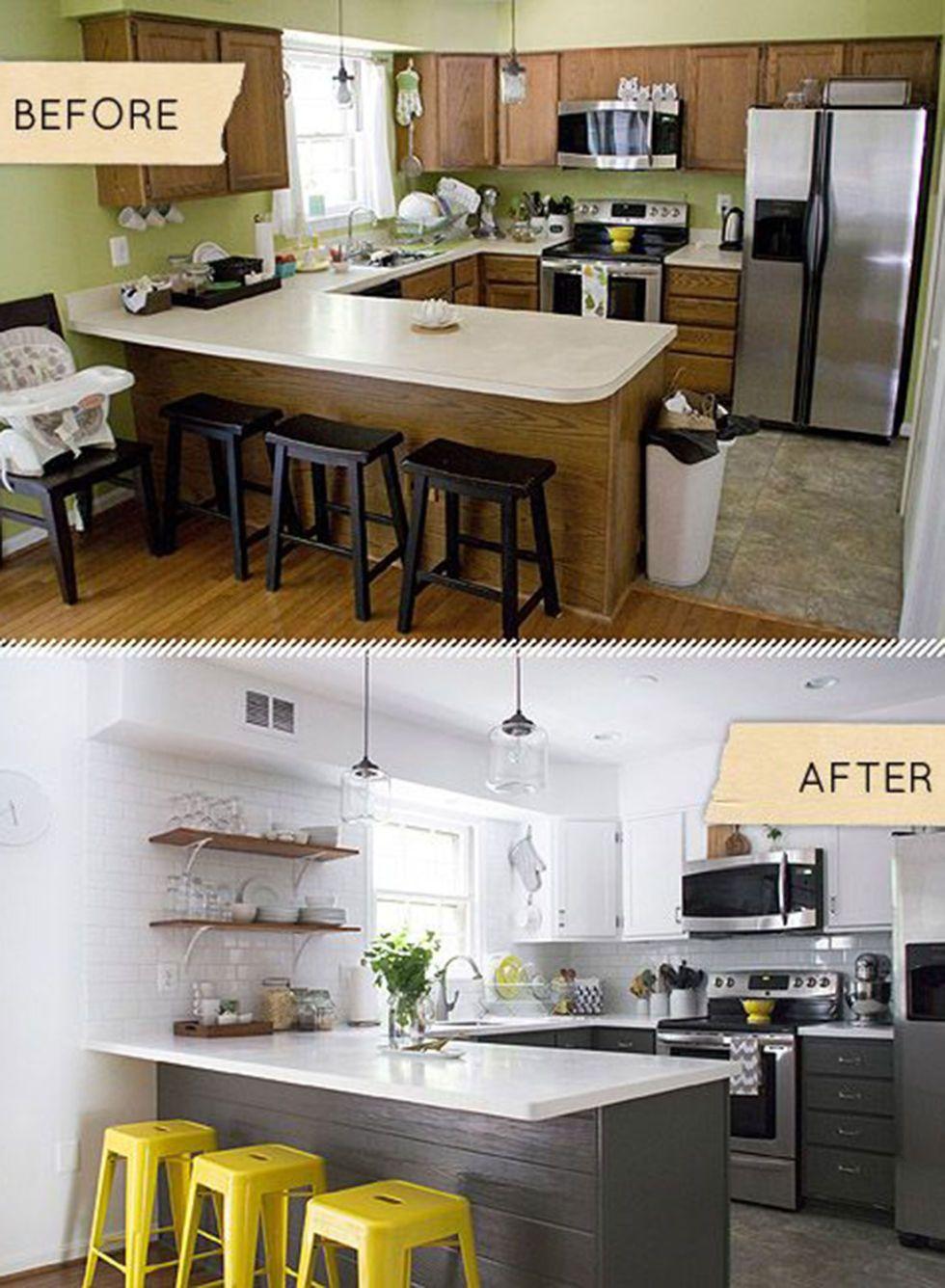 Elegantes Weiß, Holzfronten und farbliche Akzente machen aus der Küche ein modernes Kochparadies.