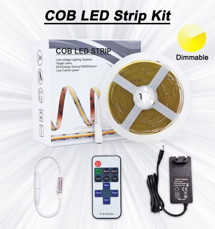 Dot Free 180 Degree Angle Dc 12v 24v 320 528leds Cob Flexible Led Strip Light View Led Strip Light Adled Product Details From Shenzhen Adled Light Limited On In 2020 Led Strip