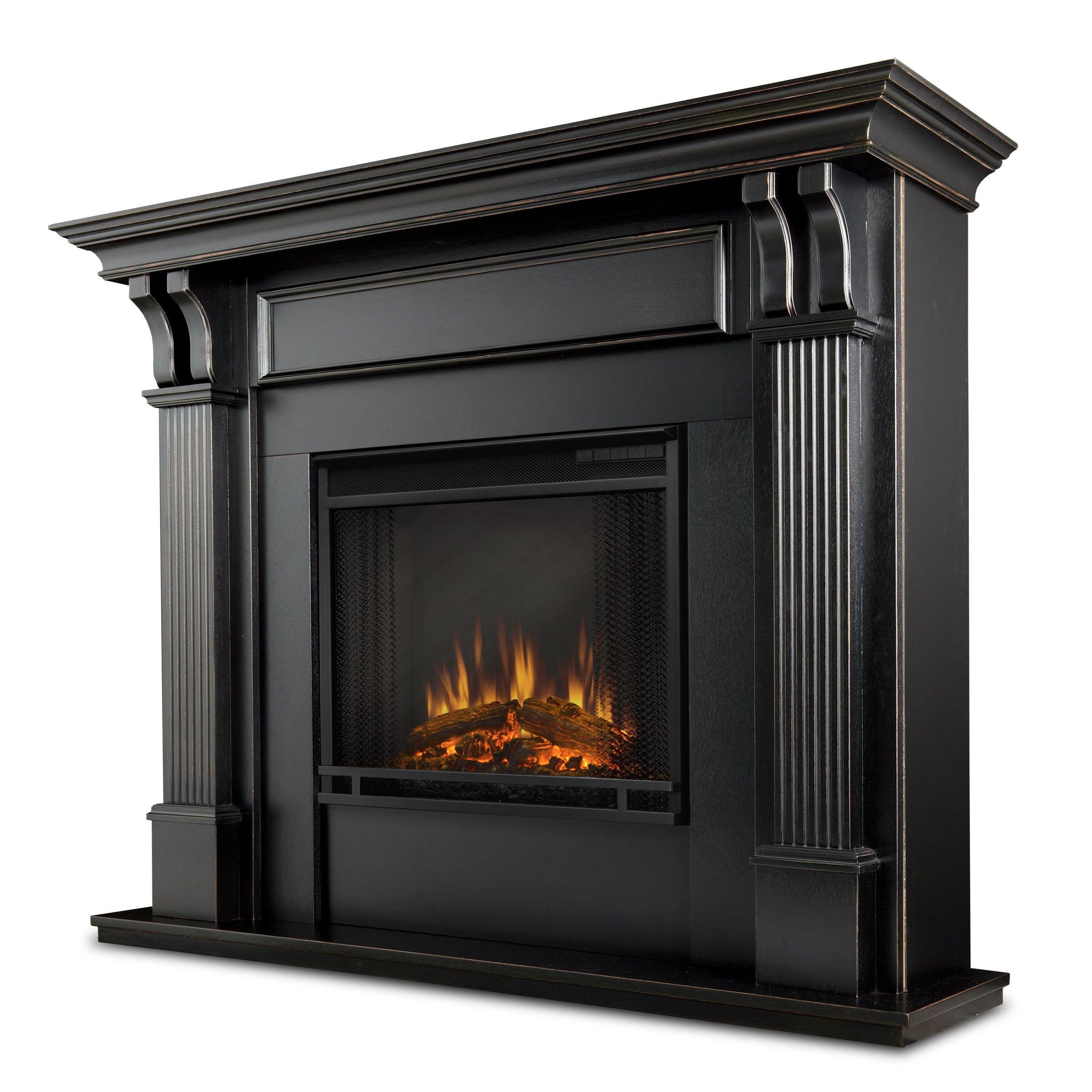 Indoor Fireplaces Electric Fireplace Black Gel