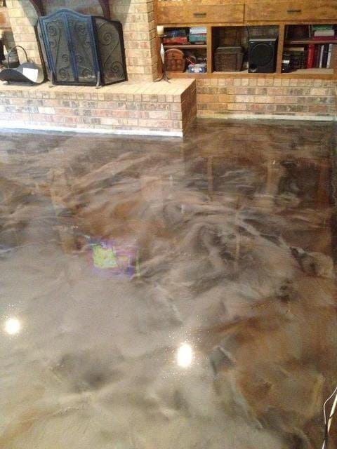 Epoxy Metallic Flooring Rayne La Living Room Basement