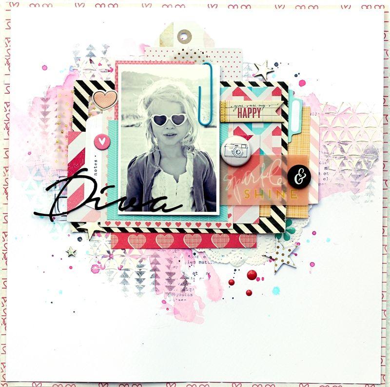 Christin aka Umenorskan scrapper: Diva using Shimelle from American Crafts