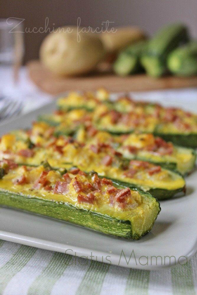 Ricetta Verdure Sfiziose.Zucchine Farcite Ricetta Sfiziosa Ricette Ricette Di Cucina Ricette Contorni