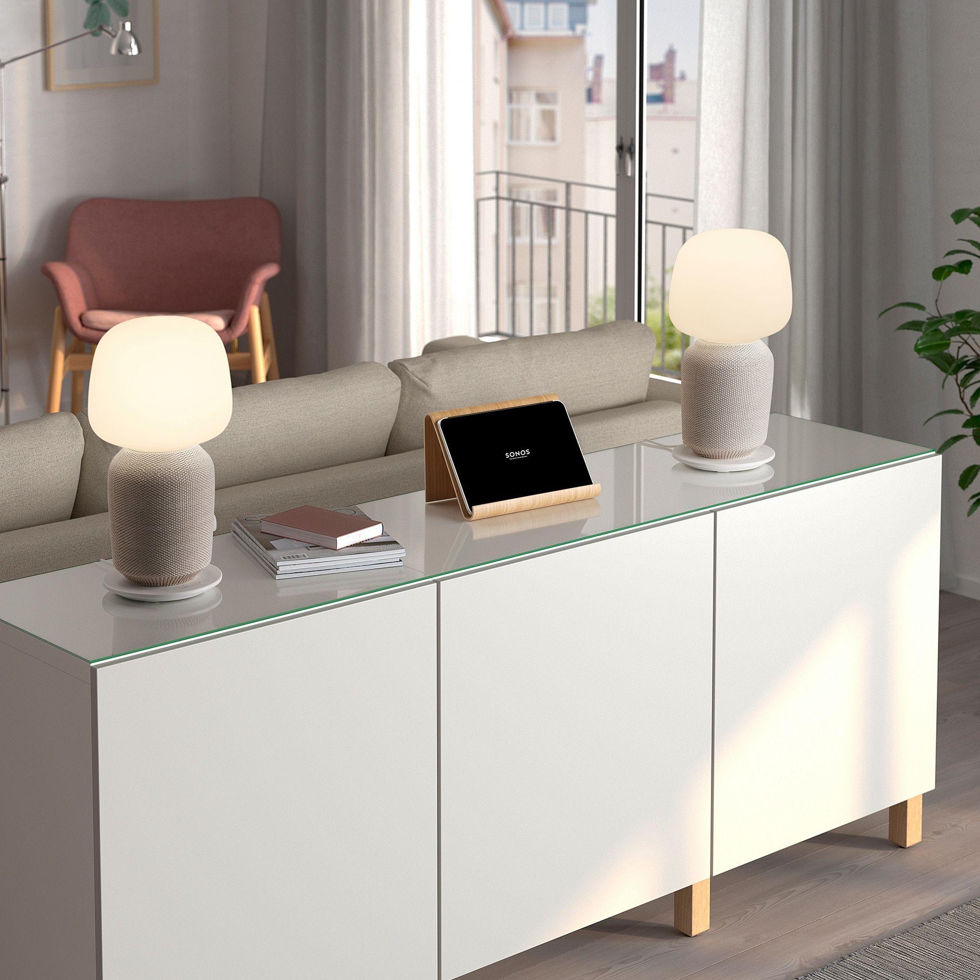 Ikea Symfonisk Table Lamp With Wifi Speaker White Ikea Symfonisk Inspirationen In 2019 Tischleuchte Ikea Und Heimkino