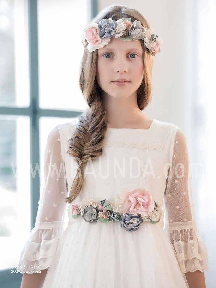 a2a71e6b68 Baunda Vestido comunión Amaya 2019 modelo 916 Madrid y tienda online