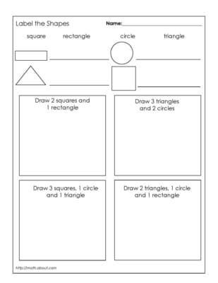 1st Grade Geometry Worksheets for Students | Kind