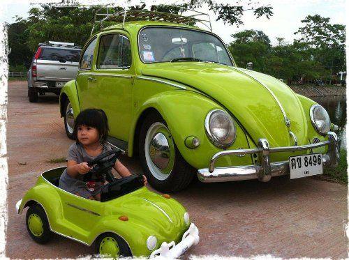 Amazon com: Red Classic Volkswaken beetle pedal car custom