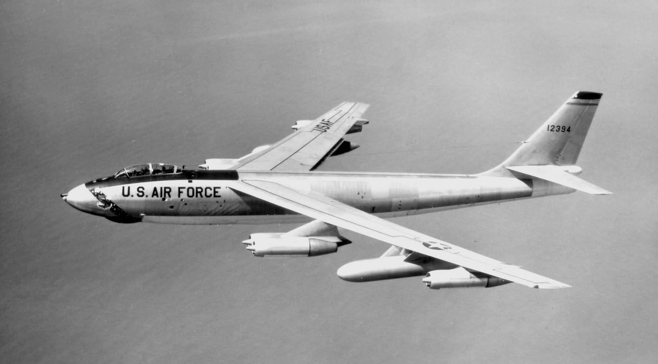 The Boeing B-47 Stratojet was a long-range, jet-powered medium bomber designed to fly at high subsonic speeds and high altitudes to avoid enemy interception. The B-47's mission was primarily to drop nuclear bombs on the Soviet Union. With its engines carried in pods under the swept wing, the B-47 was a major innovation in combat jet design, and helped lead to modern jet airliners. The B-47 entered service with the U.S. Air Force's Strategic Air Command in 1951, and remained in use as until…
