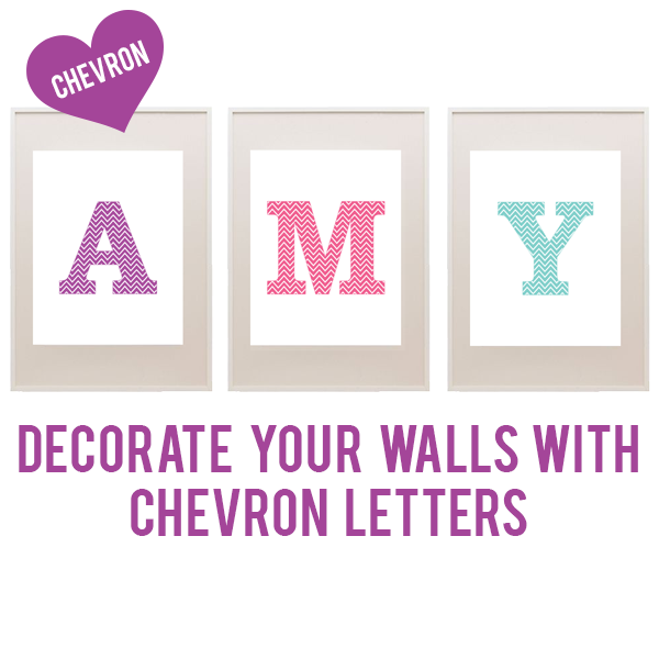 Decorate Your Walls With FREE Chevron Letters In Twelve